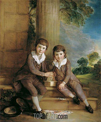 Master John Truman-Villebois and his Brother Henry, c.1783 | Gainsborough| Gemälde Reproduktion