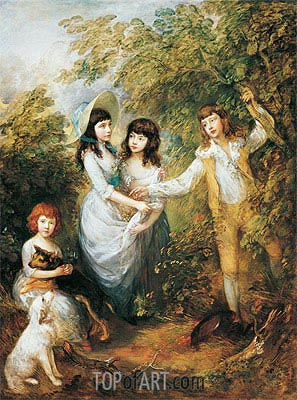 The Marsham Children, 1787 | Gainsborough | Painting Reproduction
