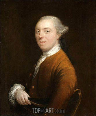 Portrait of Captain Sharpe, c.1757/58 | Gainsborough| Gemälde Reproduktion