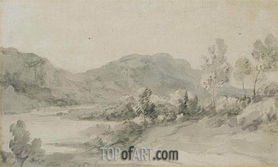 A View in the Lake District,  | Gainsborough| Painting Reproduction
