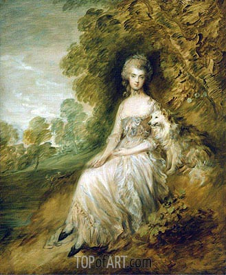 Mrs Mary Robinson, 1782 | Gainsborough | Gemälde Reproduktion