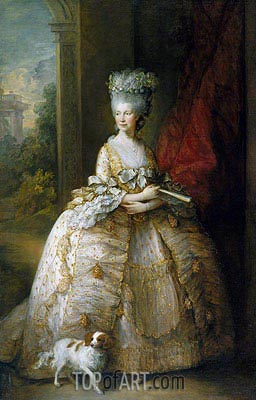 Queen Charlotte, 1781 | Gainsborough | Painting Reproduction