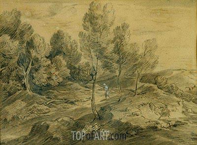 Gainsborough | A Figure in a Landscape, c.1775/80