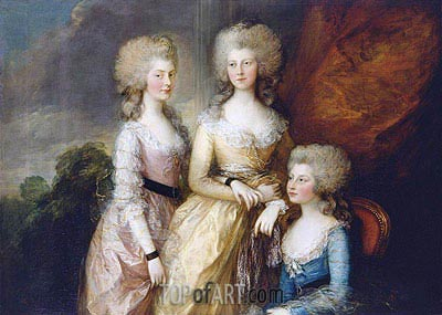 The Three Eldest Princesses: Charlotte, Princess Royal, Augusta and Elizabeth, 1784 | Gainsborough | Painting Reproduction