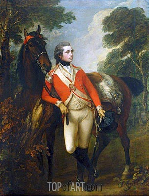 John Hayes St Leger, 1782 | Gainsborough| Painting Reproduction