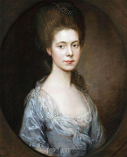 Mrs. George Oswald, c.1770/74 | Gainsborough| Painting Reproduction