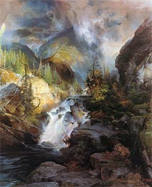Children of the Mountain, 1866 von Thomas Moran | Gemälde-Reproduktion