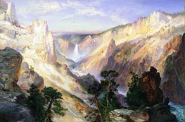 Grand Canyon of the Yellowstone, Wyoming, 1906 von Thomas Moran | Gemälde-Reproduktion