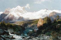 Die Teton-Reihe, 1897 von Thomas Moran | Gemälde-Reproduktion