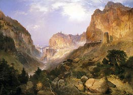 Golden Gate, Yellowstone National Park, 1893 von Thomas Moran | Gemälde-Reproduktion