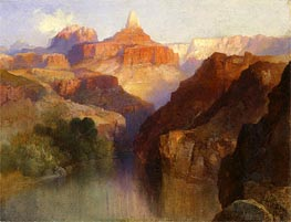 Zoroaster Peak (Grand Canyon, Arizona), 1918 von Thomas Moran | Gemälde-Reproduktion