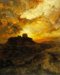 Sunset, Pueblo del Wape, Arizona | Thomas Moran | Painting Reproduction