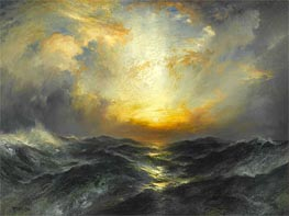 Sunset at Sea | Thomas Moran | Gemälde Reproduktion
