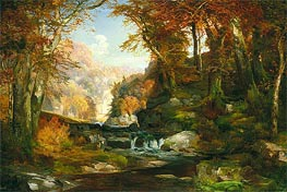 A Scene on the Tohickon Creek: Autumn | Thomas Moran | Gemälde Reproduktion