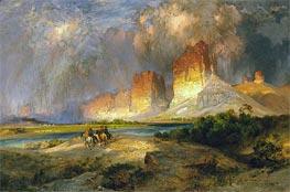 Cliffs of the Upper Colorado River, Wyoming Territory | Thomas Moran | Gemälde Reproduktion