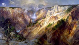 The Grand Canyon of the Yellowstone | Thomas Moran | Gemälde Reproduktion