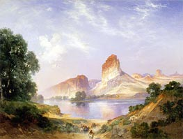 An Indian Paradise (Green River, Wyoming) | Thomas Moran | Gemälde Reproduktion