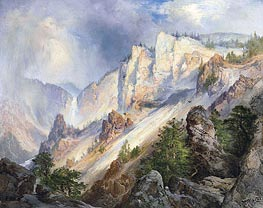 A Passing Shower in the Yellowstone Canyon | Thomas Moran | Gemälde Reproduktion