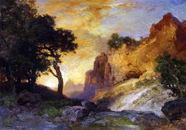 A Side Canyon, Grand Canyon, Arizona | Thomas Moran | Gemälde Reproduktion