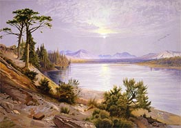 Head of the Yellowstone River, 1875 by Thomas Moran | Painting Reproduction