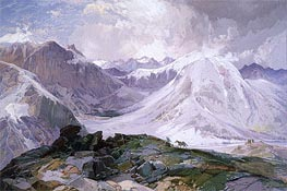 The Musquito Trail, Rocky Mountains of Colorado | Thomas Moran | veraltet