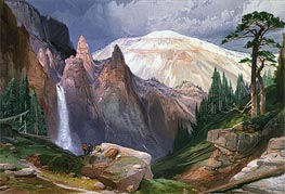 Tower Falls and Sulphur Mountain | Thomas Moran | veraltet