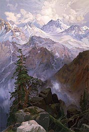 Summit of the Sierras, Nevada | Thomas Moran | veraltet