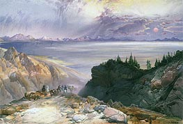The Great Salt Lake of Utah, 1875 by Thomas Moran | Painting Reproduction
