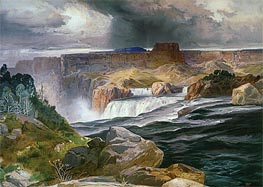Great Falls of Snake River, 1876 by Thomas Moran | Painting Reproduction