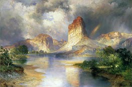 Cliffs of Green River, Wyoming, c.1909/10 by Thomas Moran | Painting Reproduction