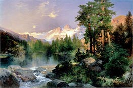 The Three Tetons | Thomas Moran | Gemälde Reproduktion