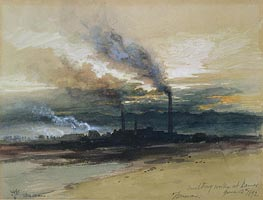Smelting Works at Denver, 1892 by Thomas Moran | Painting Reproduction