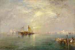 Morning, Outskirts of Venice, 1907 by Thomas Moran | Painting Reproduction