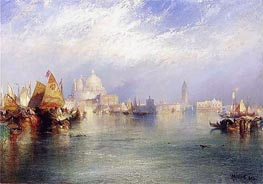Harbor Scenes (The Splendor of Venice), 1894 by Thomas Moran | Painting Reproduction