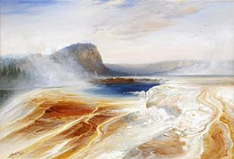 Lower Geyser Basin, 1873 by Thomas Moran | Painting Reproduction