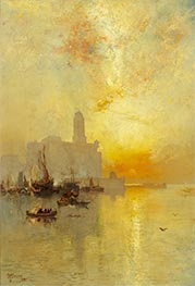 Venetian Seaport, Vera Cruz | Thomas Moran | Painting Reproduction