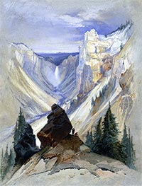 The Grand Canyon of the Yellowstone | Thomas Moran | Painting Reproduction