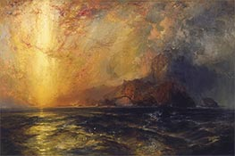 Fiercely the Red Sun Descending, undated by Thomas Moran | Painting Reproduction