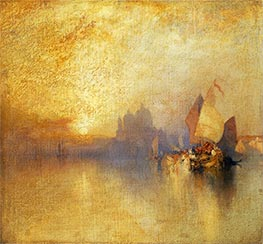 Opalescent Venice, undated by Thomas Moran | Painting Reproduction