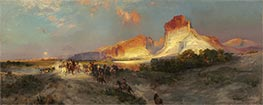 Green River Cliffs, Wyoming, 1881 by Thomas Moran | Painting Reproduction