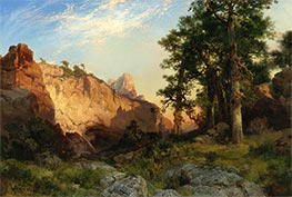 Coconino Pines and Cliff, Arizona, 1902 by Thomas Moran | Painting Reproduction