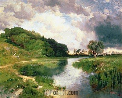 Approaching Storm, Amagansett, 1884 | Thomas Moran | Painting Reproduction