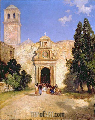 Maravatio, Mexico, 1912 | Thomas Moran | Gemälde Reproduktion