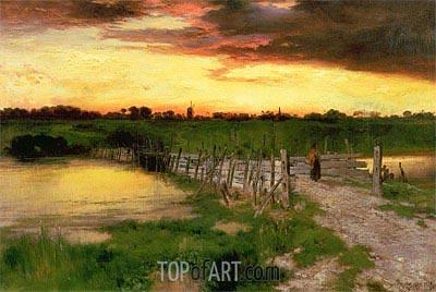 Thomas Moran | The Old Bridge Over Hook Pond, 1907