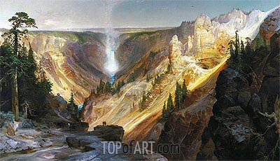 The Grand Canyon of the Yellowstone, 1872 | Thomas Moran | Painting Reproduction
