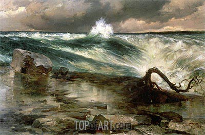 The Rapids Above Niagara,  | Thomas Moran | Painting Reproduction