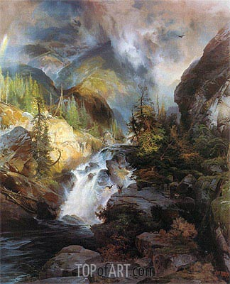Children of the Mountain, 1866 | Thomas Moran | Painting Reproduction