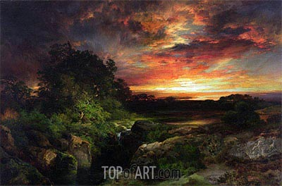 An Arizona Sunset Near the Grand Canyon, 1898 | Thomas Moran | Painting Reproduction