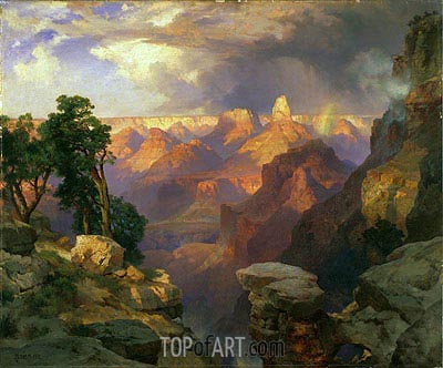 Grand Canyon with Rainbow, 1912 | Thomas Moran| Painting Reproduction