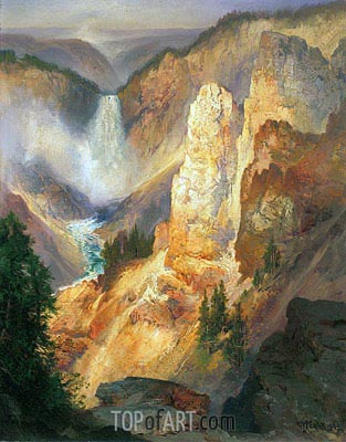 Grand Canyon of the Yellowstone, 1893 | Thomas Moran | Gemälde Reproduktion